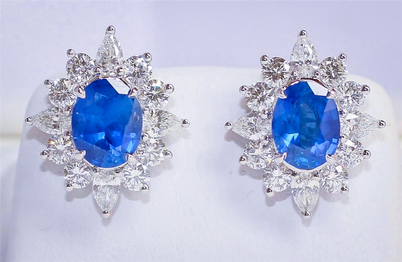 Diamond Sapphire Earrings
