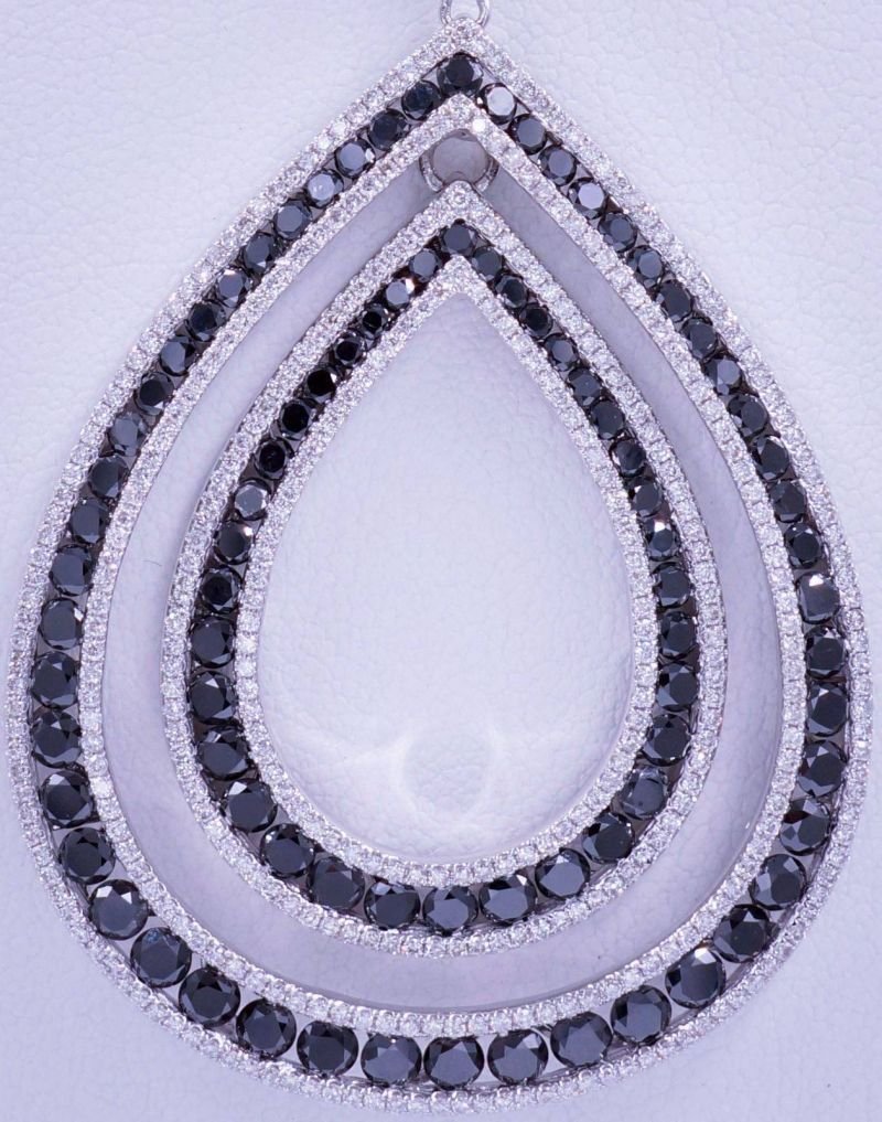 White_and_Black_Diamond_Pendant