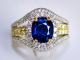 Non-Heated Sapphire Ring